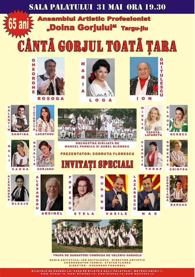 Cantă Gorjul toată țara 31 mai 2013
