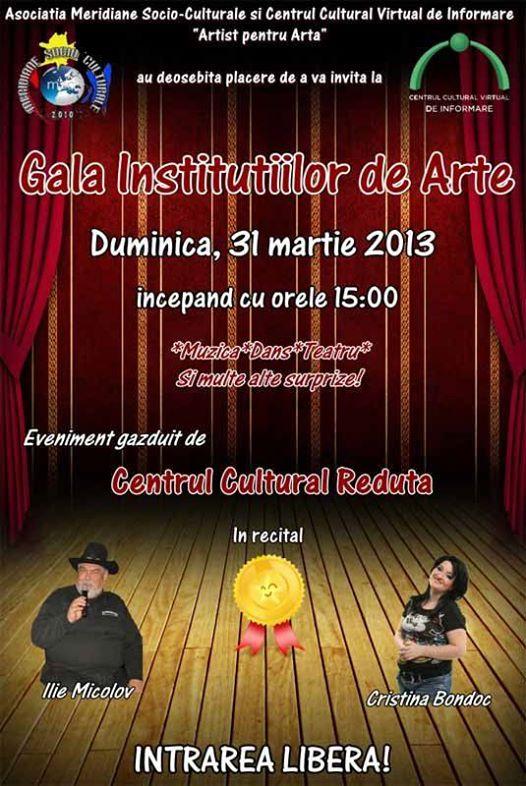 GALA INSTITUTIILOR DE ARTE 31 MARTIE 2013