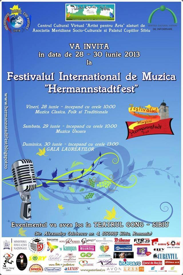 "Festivalul International de Muzica ""Hermannstadtfest"" 28-30 iunie 2013"