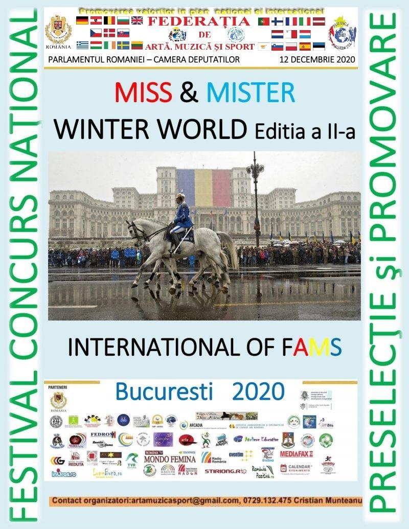 FESTIVAL NAŢIONAL CONCURS MISS & MISTER WINTER WORLD International of FAMS